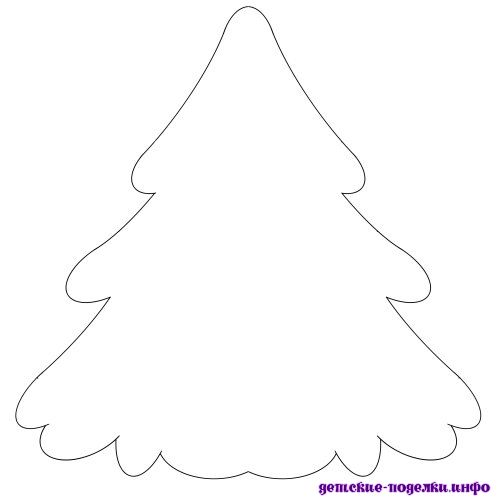Трафарет елка из бумаги