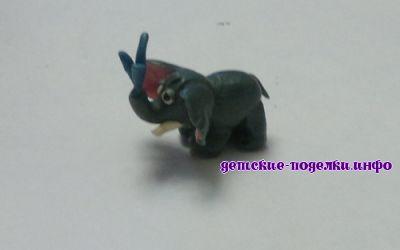 Как слепить слона из пластилина