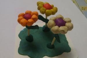 пластилиновые цветочки