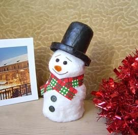 Детские новогодние поделки для детского сада — снеговик