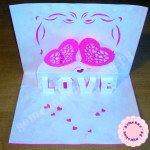 Мастер-класс по изготовлению киригами-открытки ко Дню святого Валентина