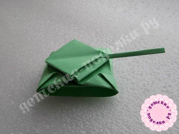 Танк своими руками, поделка в технике оригами