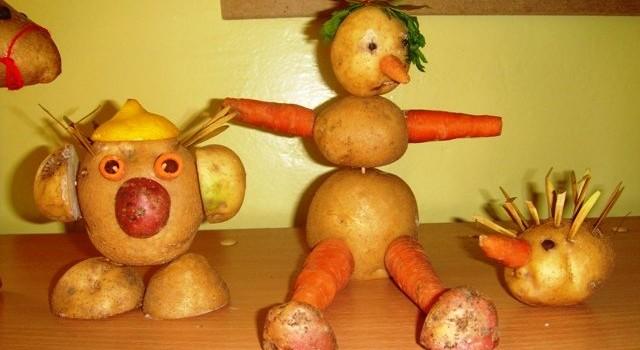 Поделки из картофеля своими руками фото