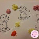 Поделки из цветной бумаги для детей. Котята