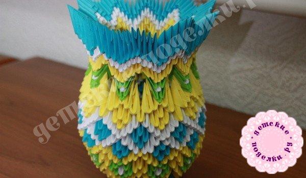 Как сделать вазу в технике оригами? Мастер-класс с фото пошагово