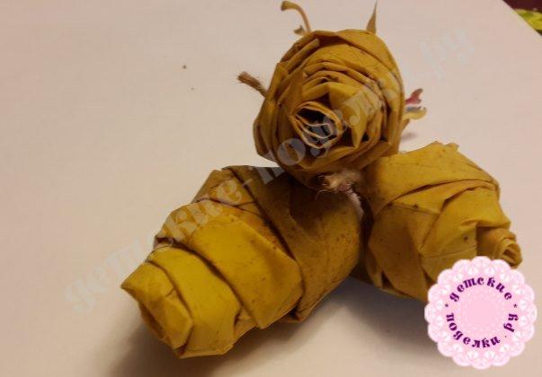 как делать розу из кленовых листьев