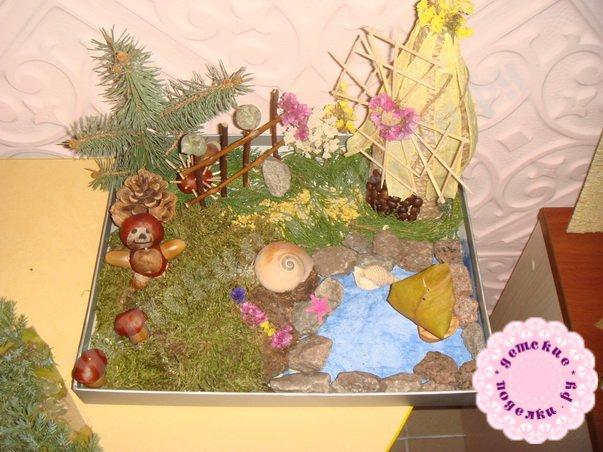 Поделки из природного материала в садик