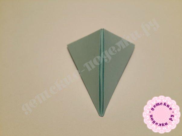Как собрать треугольный модуль оригами