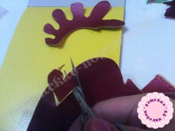 Петушок из бумаги своими руками в технике торцевание и аппликации