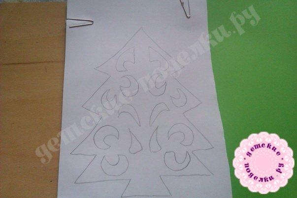 Мастер-класс елочка киригами