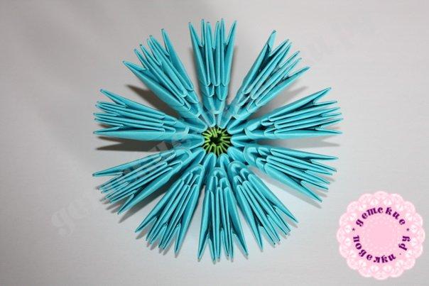 Модульное оригами ромашка пошагово 13