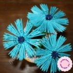 Василек в технике модульное оригами — мастер-класс пошагово с фото