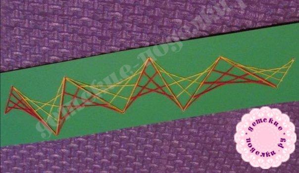 Как сделать закладку в технике изонить