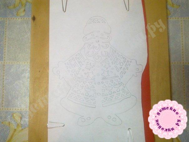 Дед Мороз и Снегурочка киригами фото пошагово