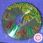 Мимоза на 8 марта — поделки из дисков своими руками для детей