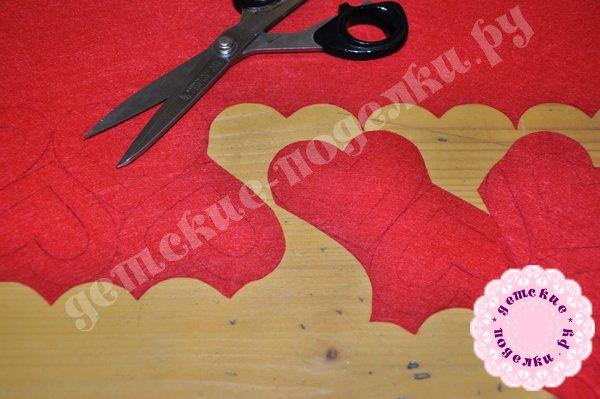 Валентинки из фетра своими руками, фото