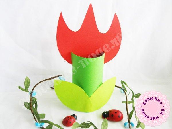 Как сделать тюльпан из бумаги