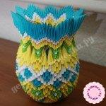 Цветная ваза в технике модульное оригами. Мастер-класс с пошаговыми фото