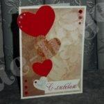 Открытка Валентинка своими руками — мастер класс с фото