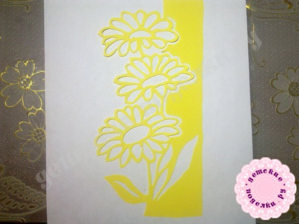 Поделки в технике киригами к 8 марта