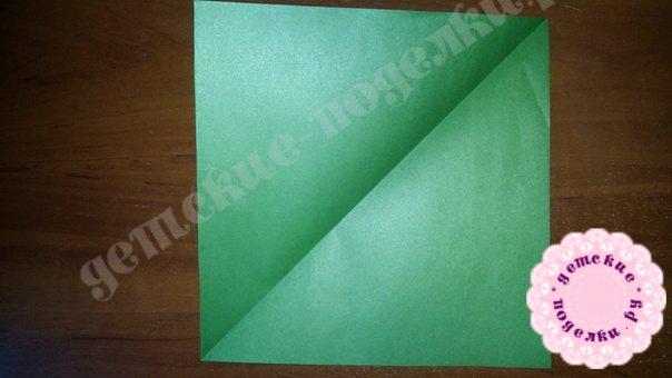 Мастер-класс: Лягушка оригами пошагово фото 1
