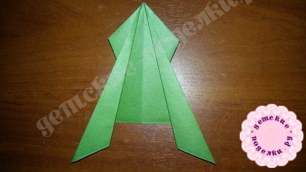 Мастер-класс: Лягушка оригами пошагово фото