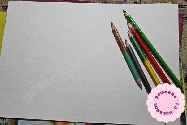 Как нарисовать арбуз карандашами легко и просто для начинающих