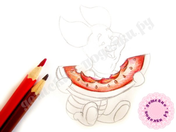 Как легко и просто нарисовать Пятачка для начинающих и детей
