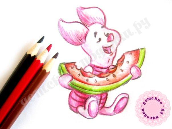 Как быстро нарисовать Пятачка для начинающих и детей