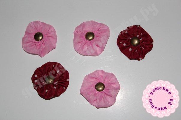 Цветочный топиарий из ткани