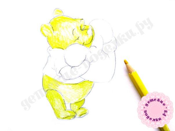 Как нарисовать Винни Пуха поэтапно карандашом