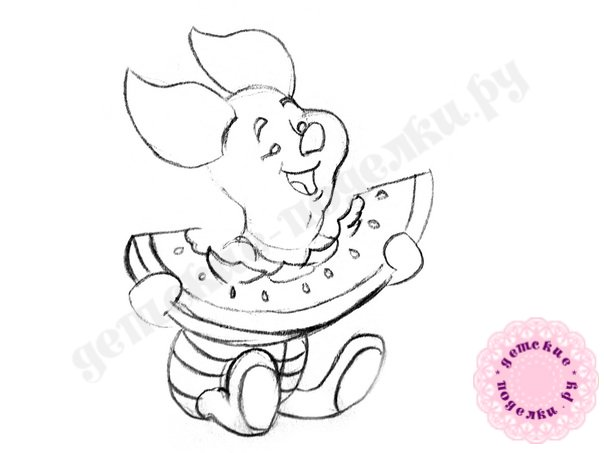Как легко нарисовать Пятачка для начинающих и детей