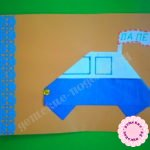 Автомобиль для папы — открытка оригами на 23 февраля