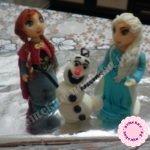 Принцесса Эльза, Анна и снеговик Олаф из мастики. Мастер-класс с пошаговыми фото