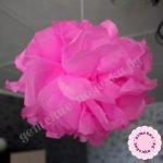 Цветок для декора помещений из бумаги тишью