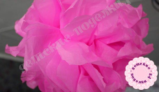 Цветок из гофрированной бумаги своими руками пошагово