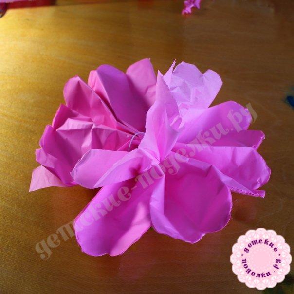 Цветок из бумаги своими руками мастер класс