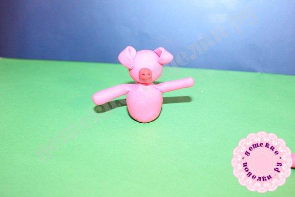Свинья из пластилина мастер класс пошагово